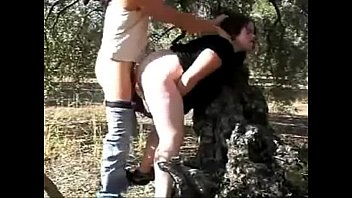 forced creampie outdoors with slut. see her used.