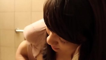 sex asian teen game toy on public toilet.