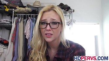 blonde amateur spied on by webcam
