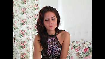 sexy busty brunette masturbating on webcam.
