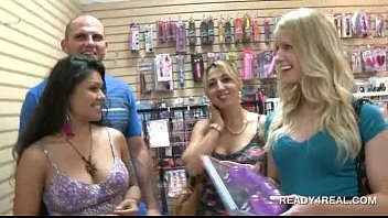 hot blonde shows off tits for money in.