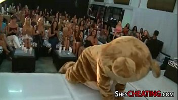 dancing-bear with bigcock gets oral-sex at.