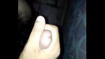 guy making cum for first time and showing balls