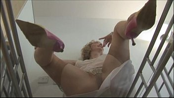 mature crissy on glass table