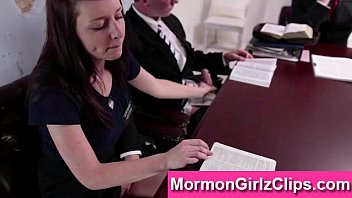 young mormon couple giving handjob in.