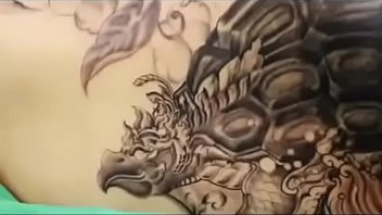 body painting 69 - tattoo process.