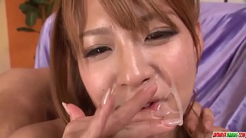 ruru kashiwagi ends with cum on face after.
