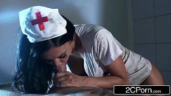 zombie ghost nurse jasmine jae lures unsuspecting stud.