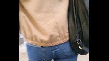 nice brunette ass off transit
