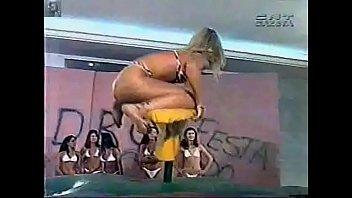malandrinha fabiana de bikini prova da prancha programa.