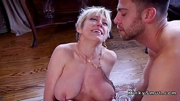 busty step mom gives anal training.