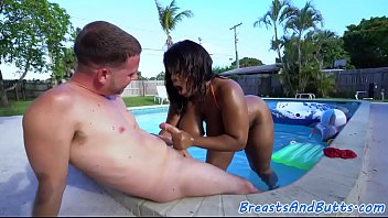 bigass ebony in bikini gets doggystyled