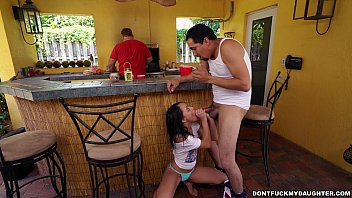 holly hendrix has some fun with her dad&#039_s.