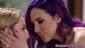 busty lesbian kisses teen