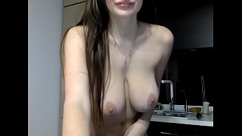 russian girl with big tits undresses - more.