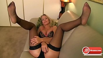 sensual milf blonde nylon feet joi
