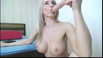 hot sexy big boobs blonde deepthroat blowjob a.
