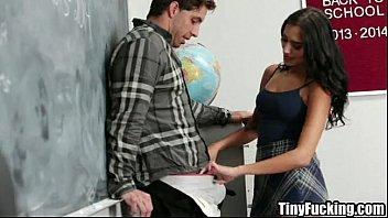 schoolgirl fucks teacher for better grades.