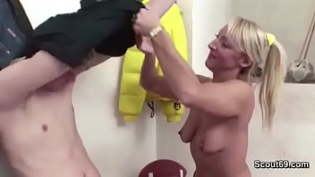 hot milf teacher seduce young boy to fuck.