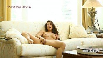 sexy babe eva lovia shows her big tits.