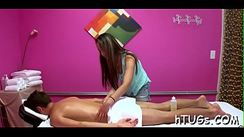 this girl doing massage does a little supplementary.