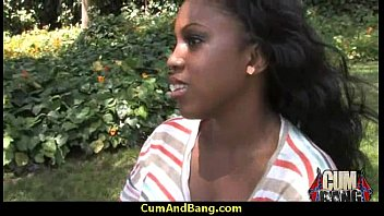 black slut used for blowjobs by a group.