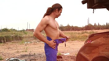 outdoor gay strip for muscled long hair men lovers