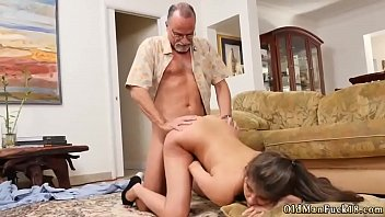 girl licks old man and fucks him very.