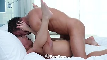 pornpros elevator blowjob turns into fuck and facial.