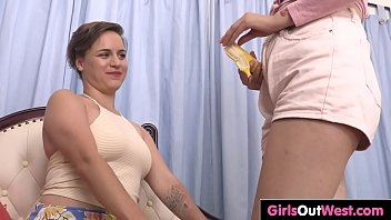 hairy lesbian girls fuck on the.