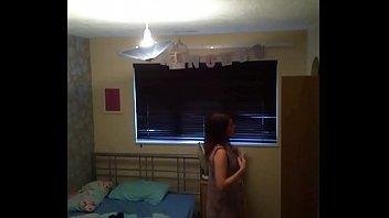 spy cam in cute teen&#039_s room.