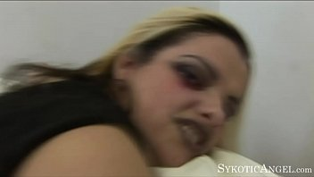 sykotic angel slutty blonde goth slut sucks &amp_.