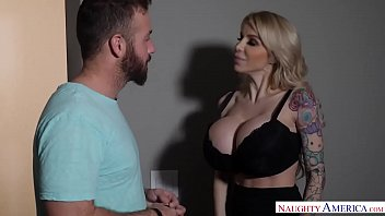 cougar danielle derek&#039_s big fake tits seduce a.
