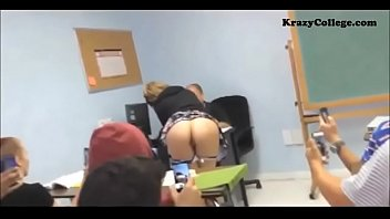 student shows ass at class during.