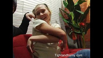 blonde teen girl in hardcore fucking and cum.