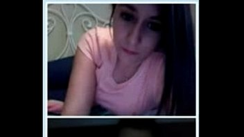 hot omegle girl strips and shows all and masturbates
