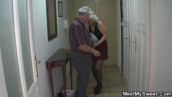 old couple seduce blonde teen into.