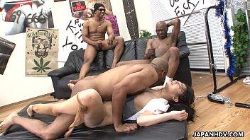 three black men destroy the asian.