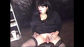 smoking shemale t-girl michelle love pleasuring herself smoking.
