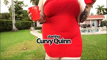 curvy quinn tastes her first big.