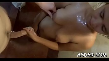 asian whore gets seduced and banged coarse by.