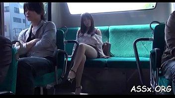 submissive japanese darling gives awesome blowbang.