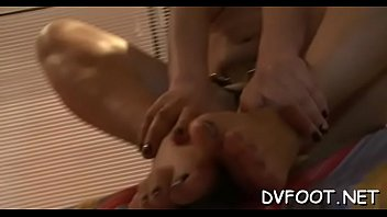 sexy foot fetisj action with hot chick getting.