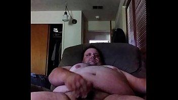 fat guy masturbates