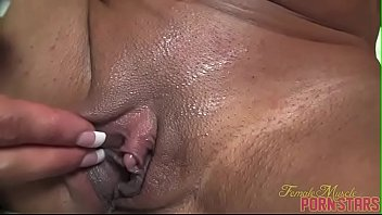 female bodybuilder porn star closeup clit.