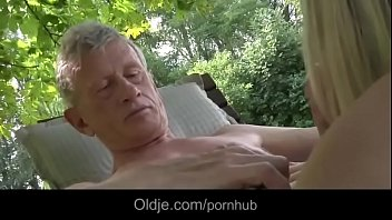 oldman fucks nasty and sexy blonde.