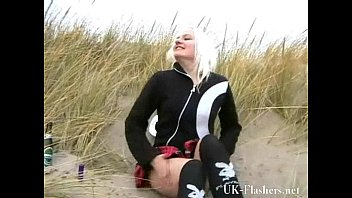 beach babe pissing in public and amateur blonde.