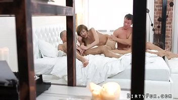 surprise threesome with anal - lola.
