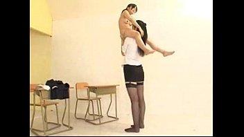 tall teacher and short student lift.