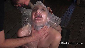 bound slave got breath torment
